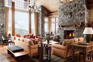 Photos And Inspiration Lodge Home Designs by A Rustic Yet Modern Montana Ski House By Michael S Smith