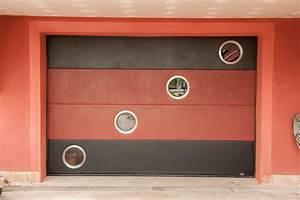 Unique porte de garage sectionnelle avec installer for Porte de garage coulissante avec chatière porte pvc