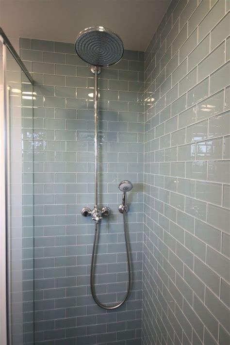 glass subway tile bathroom ideas smoke glass subway tile contemporary bathrooms grey and
