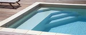 escalier piscine avec plage ph25 jornalagora With hauteur marche piscine beton