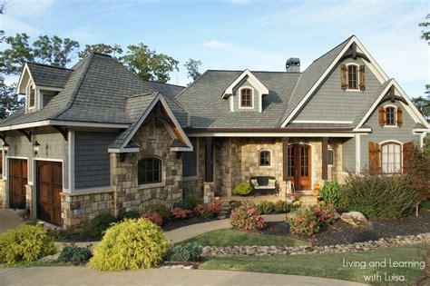 craftsman style lake house plan new house tour