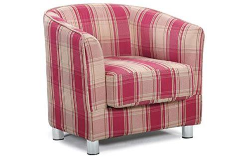 Vegas Modern Stylish Fabric Upholstered Grey & Tartan Tub