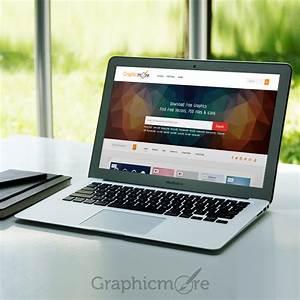 MacBook Air MockUp Design Free PSD File Download