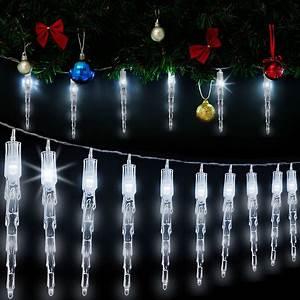 Weihnachtsbeleuchtung Innen Fenster : lichterkette eiszapfen eisregen fenster led ~ A.2002-acura-tl-radio.info Haus und Dekorationen