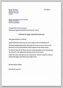 Widerspruch Rechnung Frist : widerspruch gegen rechnungsbetrag muster ~ Themetempest.com Abrechnung