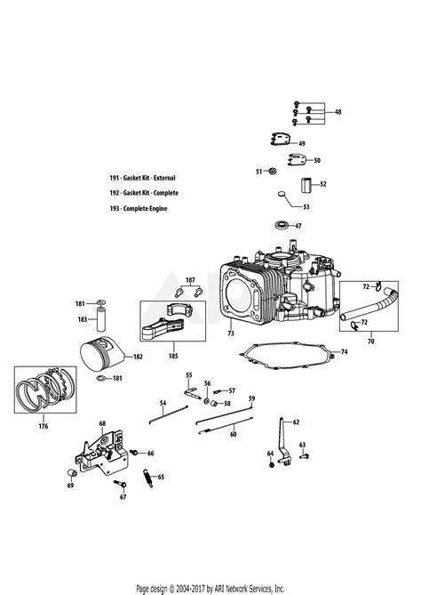 Troy Bilt Phu Engine Parts Diagram For Crankcase