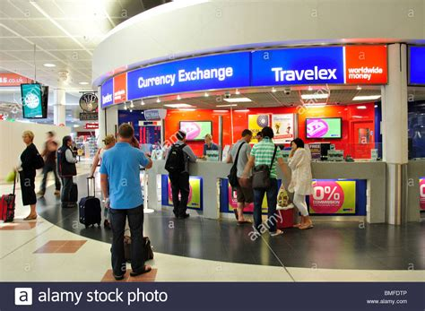 travelex currency exchange in departures terminal stock photo royalty free image