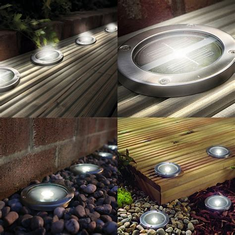 solar led deck lights white led solar powered deck decking lights