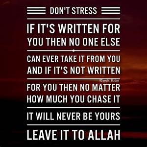 Leave it to All... Allah Tawakkul Quotes
