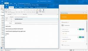 how to open outlook template - new email templates and email tracking for outlook users