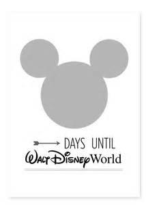 free printable countdown to disney world calendar