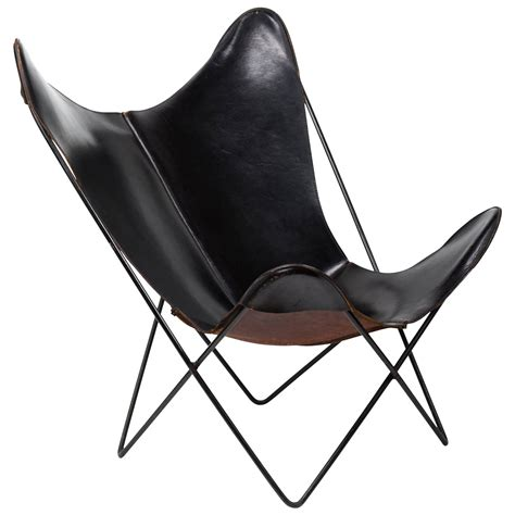 leather butterfly chair by jorge hardoy for knoll