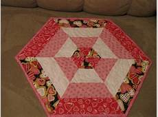 my valentine hexagon table toppers