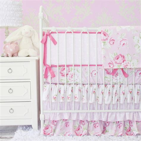 Shabby Chic Nursery Bedding by Shabby Chic Crib Bedding Shabby Chenille Crib Bedding