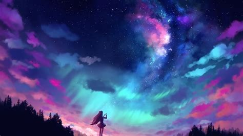 Anime Sky Wallpaper - anime and colorful sky hd wallpaper
