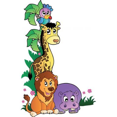 stickers muraux animaux de la jungle sticker animaux de la jungle 1 stickersmania