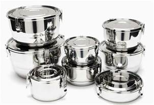 Glass Canister Set For Kitchen Airtight Stainless Steel Food Storage Containers