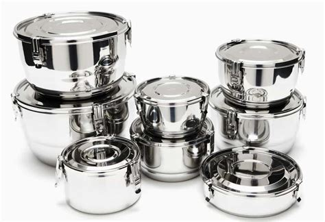 kitchen canister sets stainless steel airtight stainless steel food storage containers the