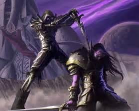 rogue wow warcraft undead forsaken rogues tcg elf warrior artwork mmo champion night combat guard card moon guide dan scott