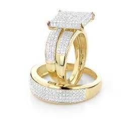 Affordable Trio Ring Sets Diamond Wedding Ring Set 1 25ct