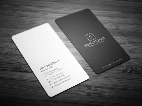 minimal business card templates psd word pages