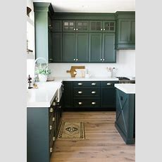 Green Kitchen Cabinet Inspiration  Bless'er House