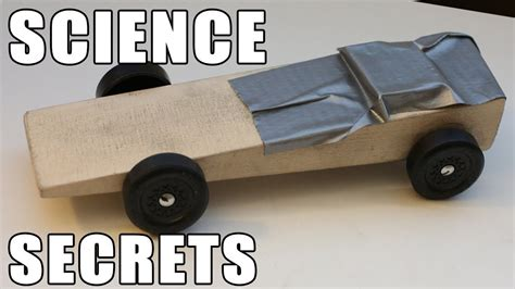 easy pinewood derby car wins  science youtube