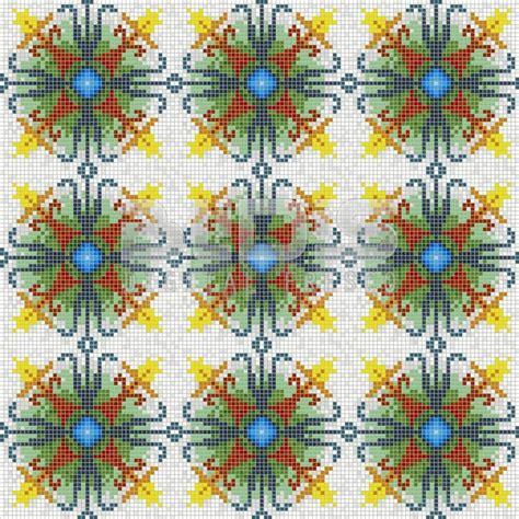 kitchen backsplash murals glass mosaic repeating pattern module colored harmony 2237