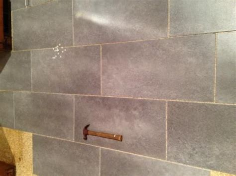 vinyl floor that you use with grout to look like real tile