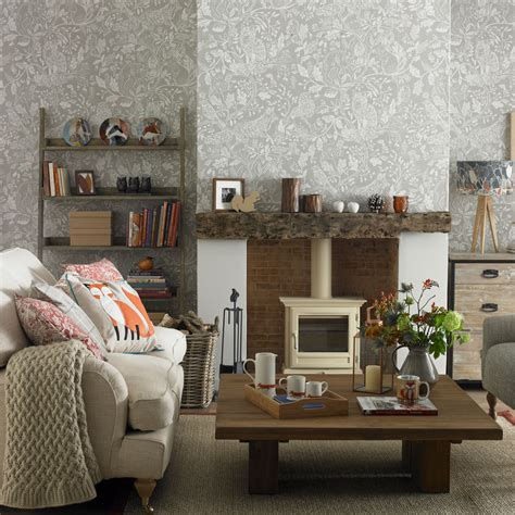 Tapeten Design Ideen Wohnzimmer by Living Room Wallpaper Wallpaper For Living Room Grey