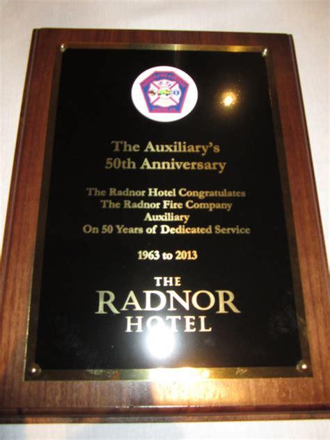 radnor fire company auxiliarys  anniversary