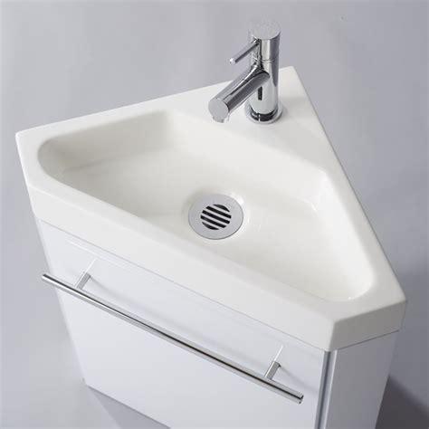 lave mains d angle complet pour wc avec meuble design blanc salle de bain wc