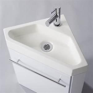 Lave Main Angle : lave mains d 39 angle complet pour wc avec meuble design ~ Melissatoandfro.com Idées de Décoration