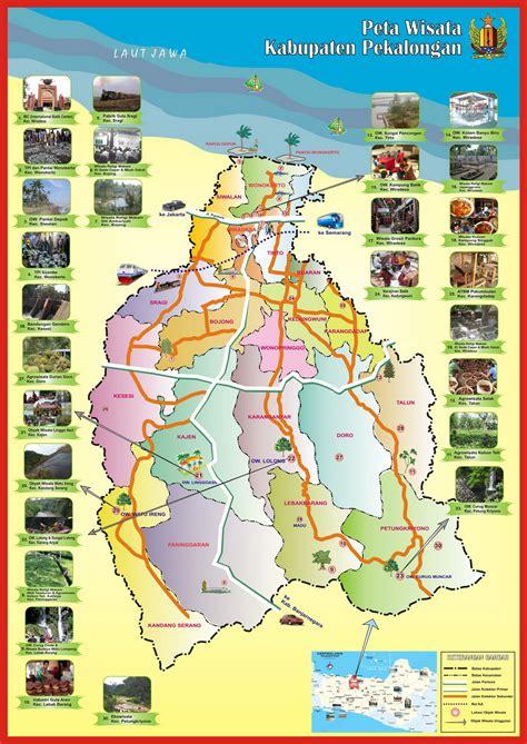 peta wisata kabupaten pekalongan dinporapar kabupaten
