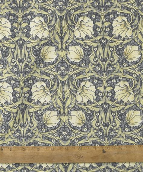 william morris pimpernel cream cotton floral fabric by the