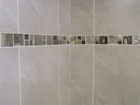 M Travertine Effect Grey Ceramic Bathroom Wall Tile
