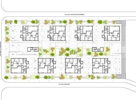 ground floor plan gallery of 120 social housing in parla arquitecnica 11