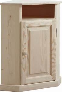 Meuble Bois Brut : meuble d 39 angle en bois brut ~ Teatrodelosmanantiales.com Idées de Décoration