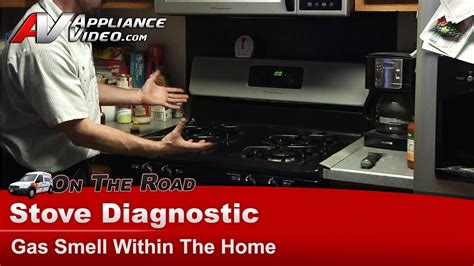 frigidaire electrolux rangestoveoven natural gas smell coming  unit fgfgmd youtube