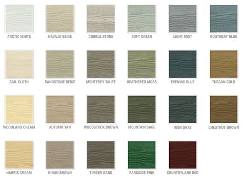 hardie siding colors hardiplank colors images
