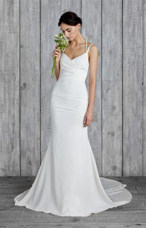 simple spaghetti wedding dress spaghetti straps floor length chiffon mermaid wedding dress topbridal co nz