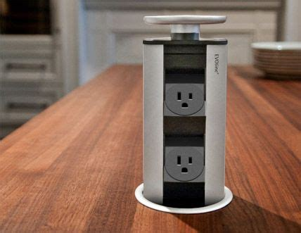 evoline retractable power outlets  kitchen islands