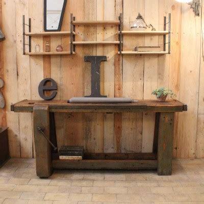 etabli bois ancien meuble industriel