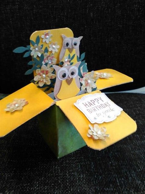 owl pop up card template su owl pop up card card in a box pop up card templates