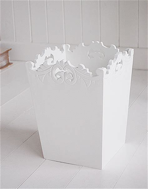 white decorative waste paper bin   white lighthouse
