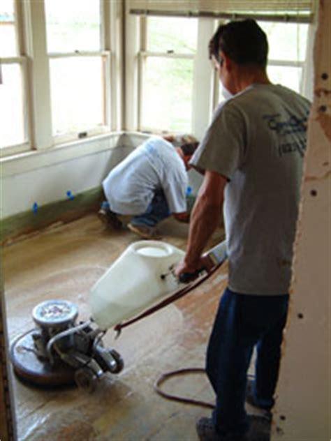 asbestos floor tile  janitors closet