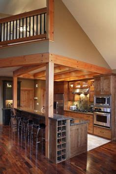 kitchen islands on small cabin homes with lofts log cabin loft and kitchen 5262