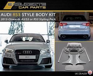 Audi A3 8v : audi a3 rs3 s3 style bodykit 8v sportback saloon 2013 ~ Nature-et-papiers.com Idées de Décoration