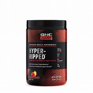 Gnc Amp Hyper-ripped  Strawberry Lemonade  24 Servings  Thermogenic Pre-workout