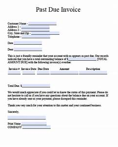 Free past due invoice template including letter excel for Past due invoice template